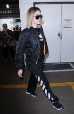 KHLOE KARDASHIAN at LAX Airport in Los Angeles 04/17/2017