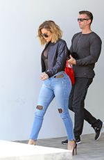 KHLOE KARDASHIAN in Tight Jeans Out in Westlake Village 04/26/2017
