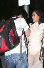 KIM KARDASHIAN is Terrified as She is Hit in the Nose by a Man as She Leaves Mr. Chow in Los Angeles 04/02/2017