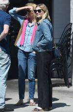 KIRSTEN DUNST Shows Off Her Diamond Engagement Ring at Family Brunch in Studio City 04/14/2017