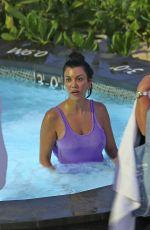 KOURTNEY KARDASHIAN in Swimsuit Relaxs in a Hot Tub in Hawaii 04/04/2017