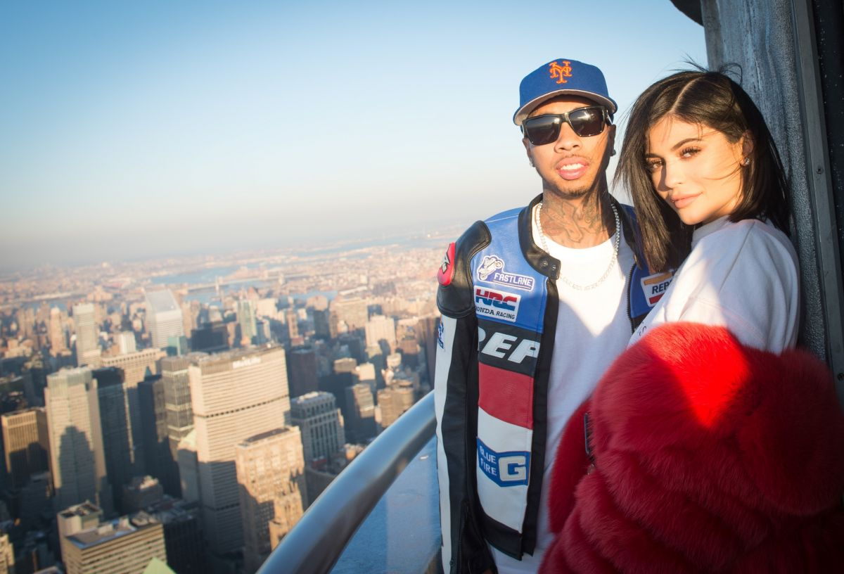 KYLIE JENNER and Tyga at Empire State Building in New York ...