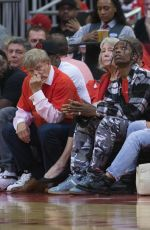 KYLIE JENNER at Houston Rockets Game 04/25/2017