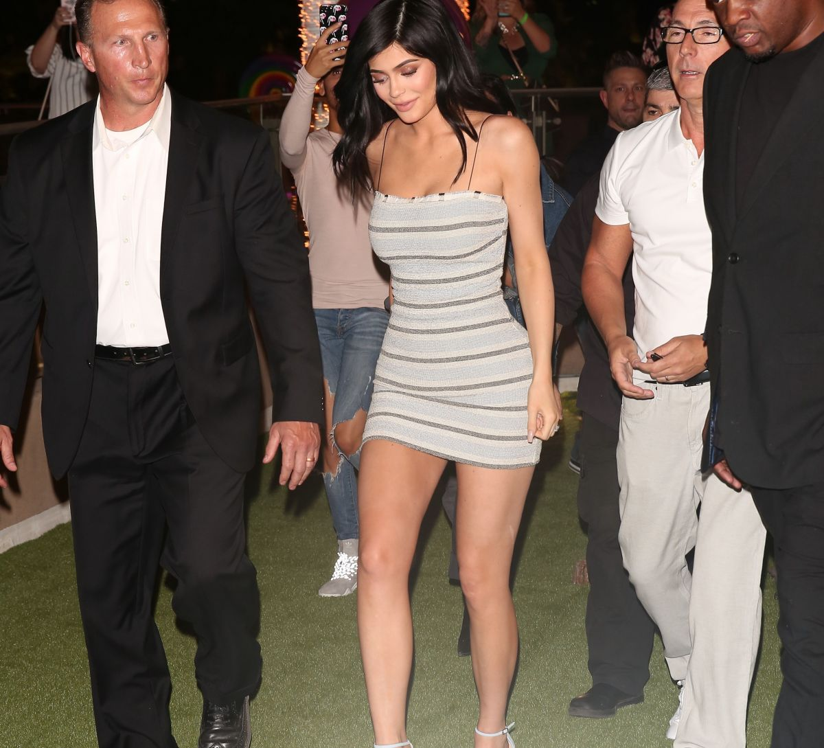 KYLIE JENNER Surrounded by Security After PETA Protests in Las Vegas 04/22/2017