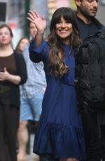 LA MICHELE Arrives at Good Morning America in New York 04/28/2017
