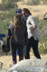 LADY GAGA and Bradley Cooper on the Set of Star Is Born Video in Los Angeles 04/21/2017