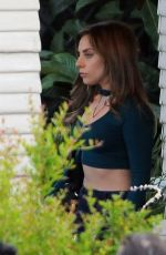 LADY GAGA on the Set of A Star Is Born Her First Feature Film Debut Directed by and Co-starring Bradley Cooper in Los Angeles 04/25/2017