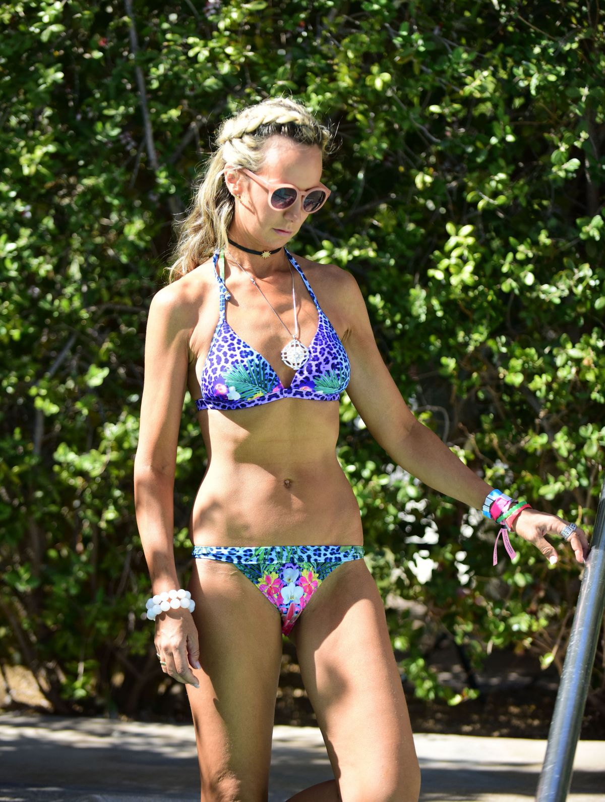 LADY VICTORIA HERVEY in Bikini at a Pool at Coachella Festival in indio 04/16/2017