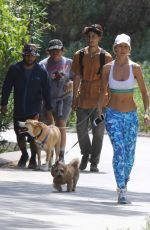 LADY VICTORIA HERVEY Walks Her Dog in Hollywood Hills 04/09/2017
