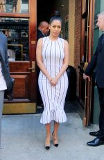 LALA ANTHONY Leaves Thalassa Restaurant in New York 04/18/2017