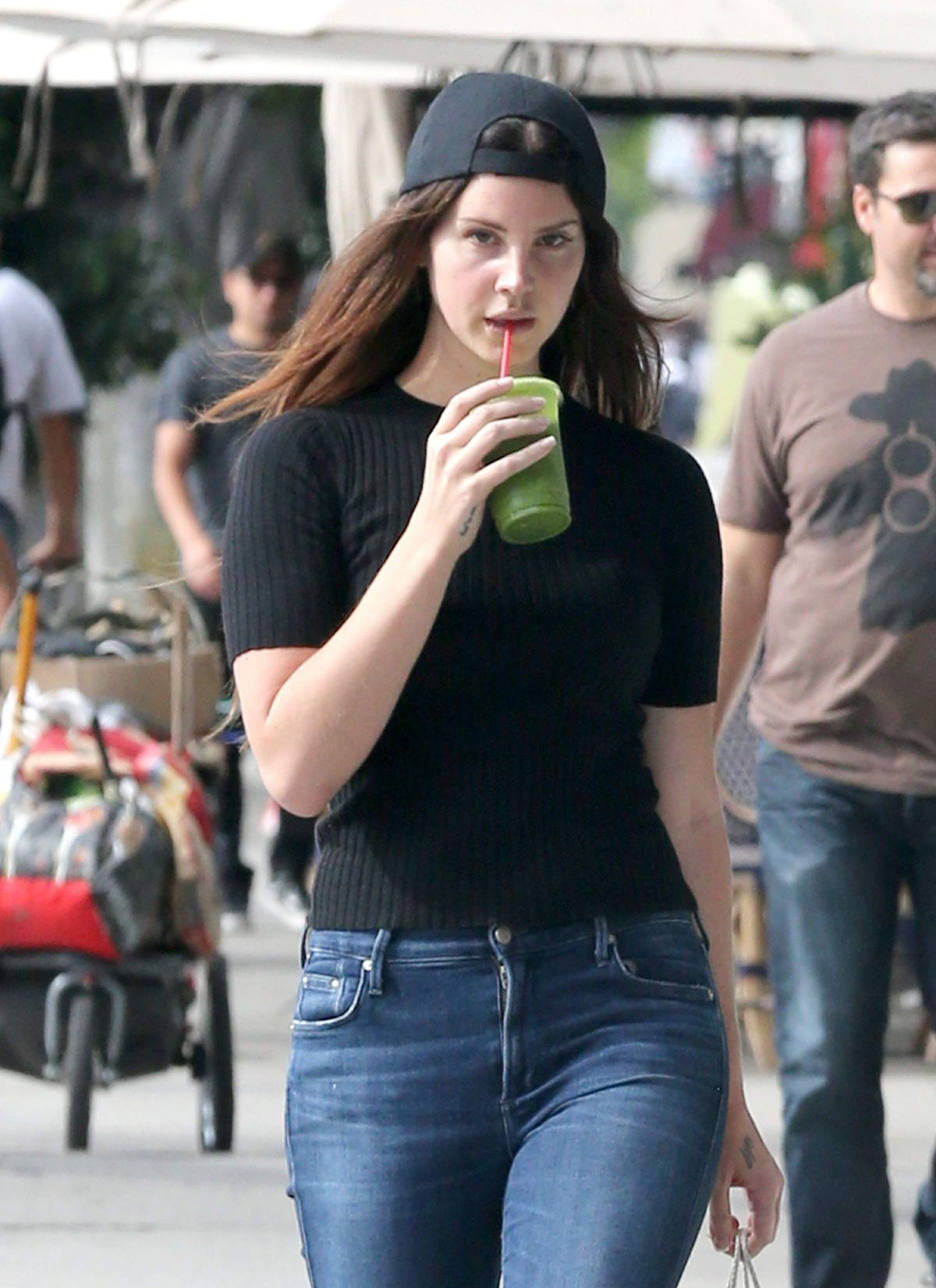 LANA DEL REY Out Shopping in Hollywood 04/26/2017
