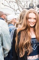 LARSEN THOMPSON and KAYLYN SLEVIN at Guess x Peace Over Violence Support Denim Day Event in Santa Monica 04/26/2017