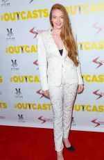 LARSEN THOPMSON at The Outcasts Premiere in Los Angeles 04/14/2017