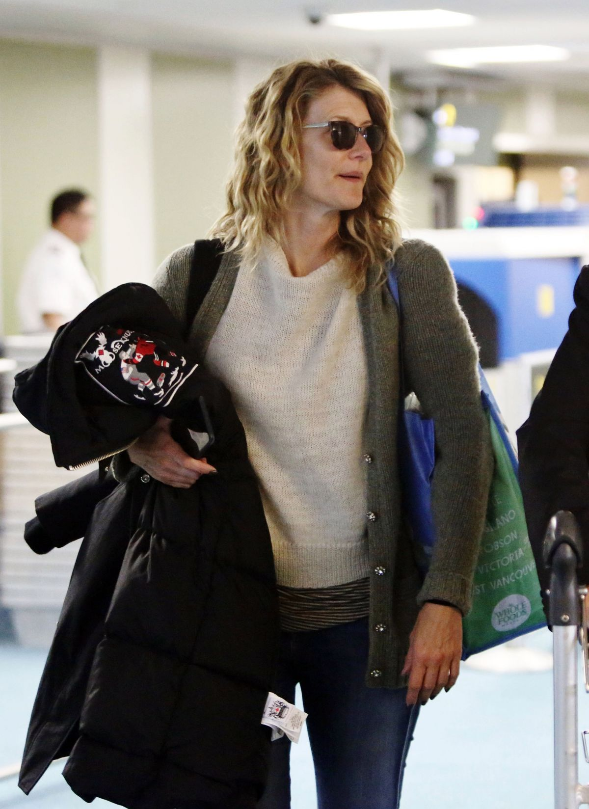 LAURA DERN at Airport in Vancouver 04/22/2017
