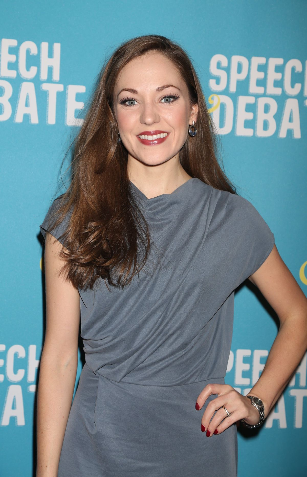 LAURA OSNES at Speech & Debate Premiere in New York 04/02/2017