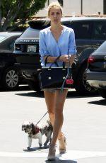 LAURA VANDERVOORT Walks Her Dog Out in West Hollywood 04/21/2017