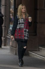 LAURA WHITMORE Out and About in Edinburgh 04/29/2017