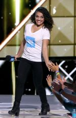 LAURIE HERNANDEZ Performs at WE Day California in Los Angeles 04/27/2017