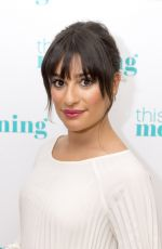 LEA MICHELE at This Mornig TV Show in London 04/24/2017