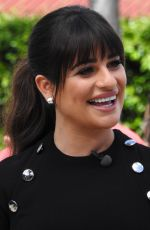LEA MICHELE on the Set of Extra in Los Angeles 04/13/2017
