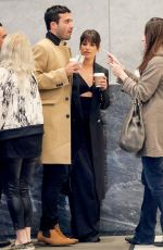 LEA MICHELE Out for a Coffee in New York 04/26/2017