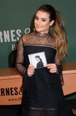 LEA MICHELE Signing Autograph at Barnes & Noble in New York 04/28/2017