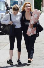 LEA THOMPSON and ZOEY DEUTCH Heading to a Gym in Beverly Hills 04/13/2017