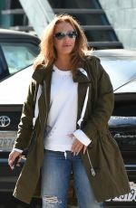 LEAH REMINI Out Shopping in Los Angeles 04/15/2017