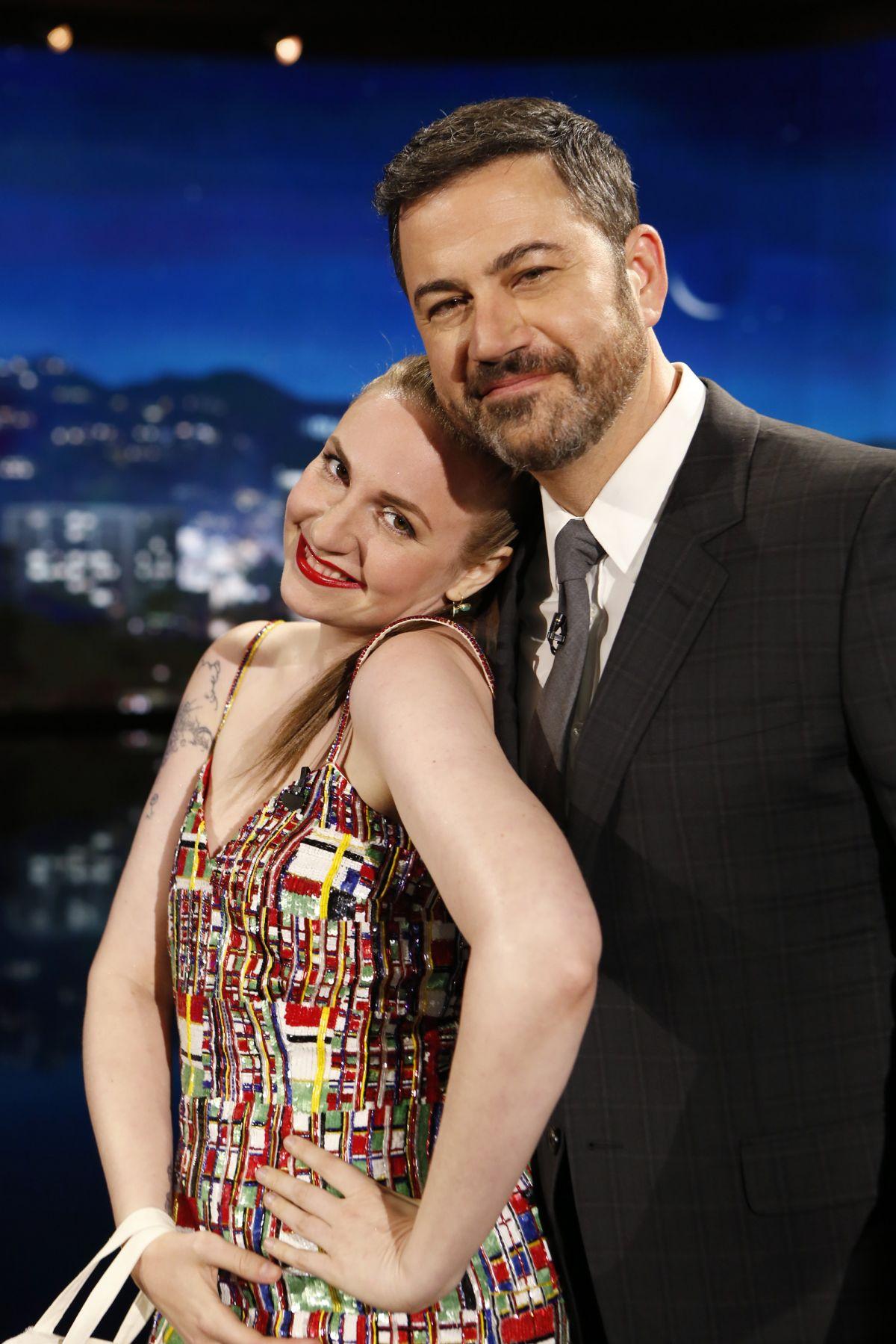 LENA DUNHAM at Jimmy Kimmel Live 04/05/2017