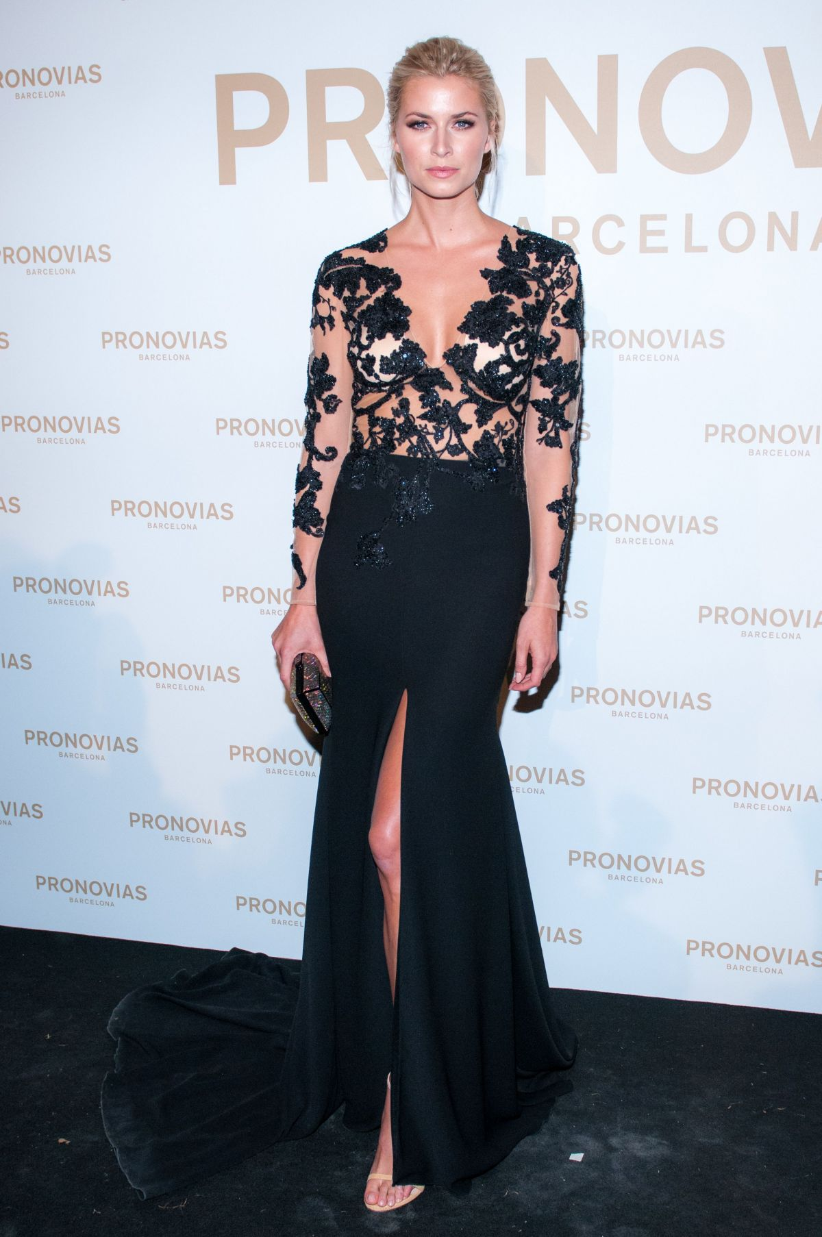 LENA GERCKE at Barcelona Photocall at Pronovias Catwalk Show 04/28/2017