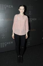 LIBBY WOODBRIDGE at The Lost City of Z Screening in New York 04/11/2017