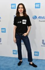 LILLY COLLINS at WE Day California in Los Angeles 04/27/2017