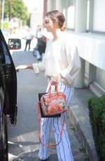 LILY ALDRIDGE Leaves Hair Salon in Beverly Hills 04/19/2017