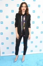 LILY COLLINS at WE Day Cocktail Party in Los Angeles 04/26/2017