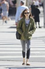LILY COLLINS Heading to a Gym in Los Angeles 04/16/2017