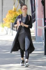 LILY COLLINS Leaves a Gym in West Hollywood 04/02/2017