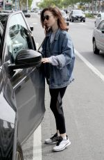 LILY COLLINS Leaves a Gym in West Hollywood 04/09/2017
