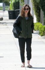 LILY COLLINS Out and About in Los Angeles 04/11/2017
