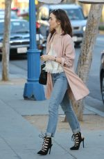 LILY COLLINS Out and About in Los Angeles 04/14/2017