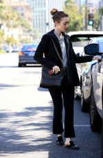 LILY COLLINS  Out in Beverly Hills 04/04/2017