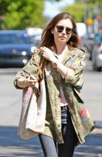 LILY COLLINS Out in West Hollywood 04/13/2017