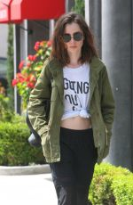 LILY COLLINS Out in West Hollywood 04/23/2017