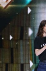 LILY COLLINS Performs at WE Day California in Los Angeles 04/27/2017