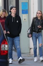 LILY-ROSE DEPP and Ash Stymest Out in Paris 04/12/2017