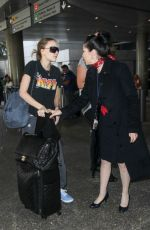 LILY-ROSE DEPP at LAX Airport in Los Angeles 04/12/2017