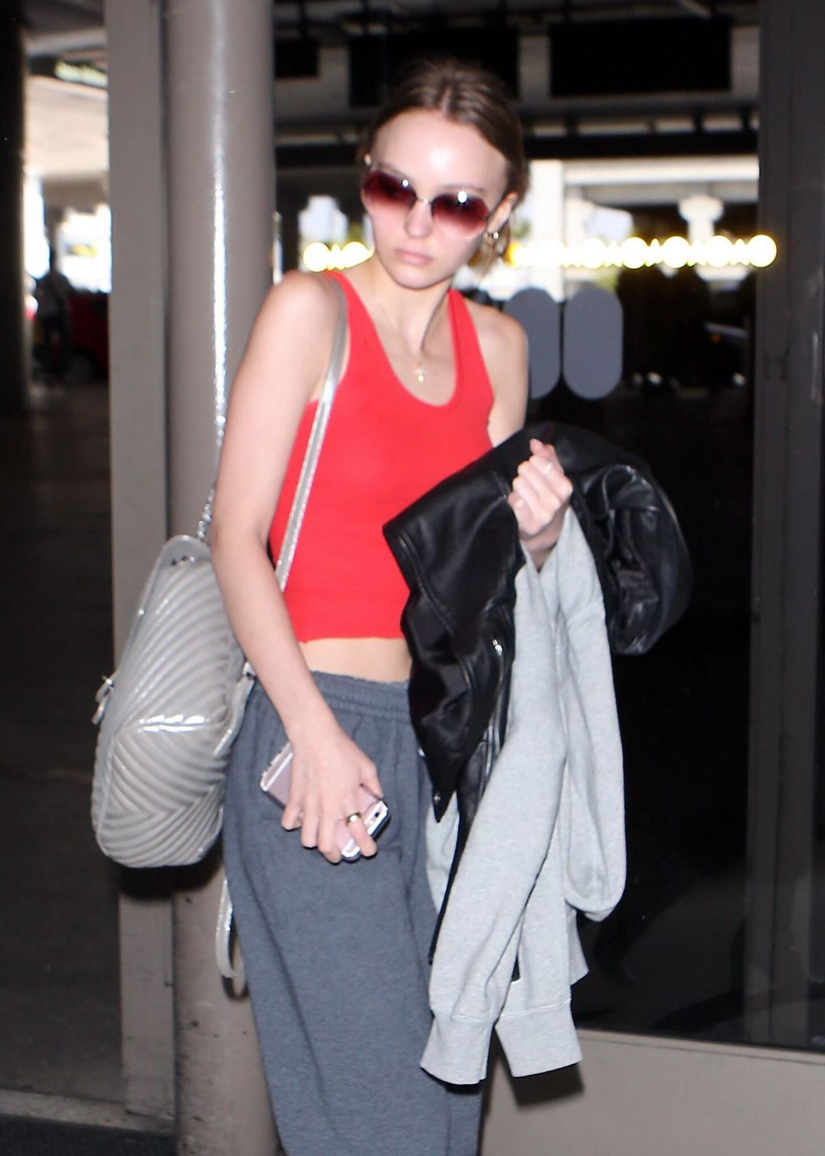 LILY-ROSE DEPP at Los Angeles International Airport 04/10/2017