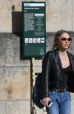 LILY-ROSE DEPP Shopping at Colette in Paris 04/12/2017
