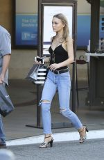 LILY-ROSE DEPP Shopping at The Grove in West Hollywood 04/24/2017