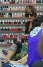 LISA RINNA at a Nail Salon in Los Angeles 04/18/2017