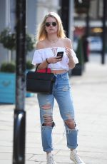 LOTTIE MOSS Leaves Hairdressers at Duck and Dry in London 0419/2017